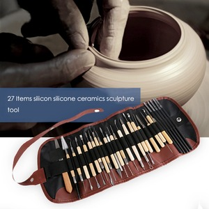 Image 5 - 27Pcs DIY Arts Crafts Clay Sculpting Tools Set Modeling Carving Tool kit Pottery & Ceramics Wooden Handle Modeling Clay Tools