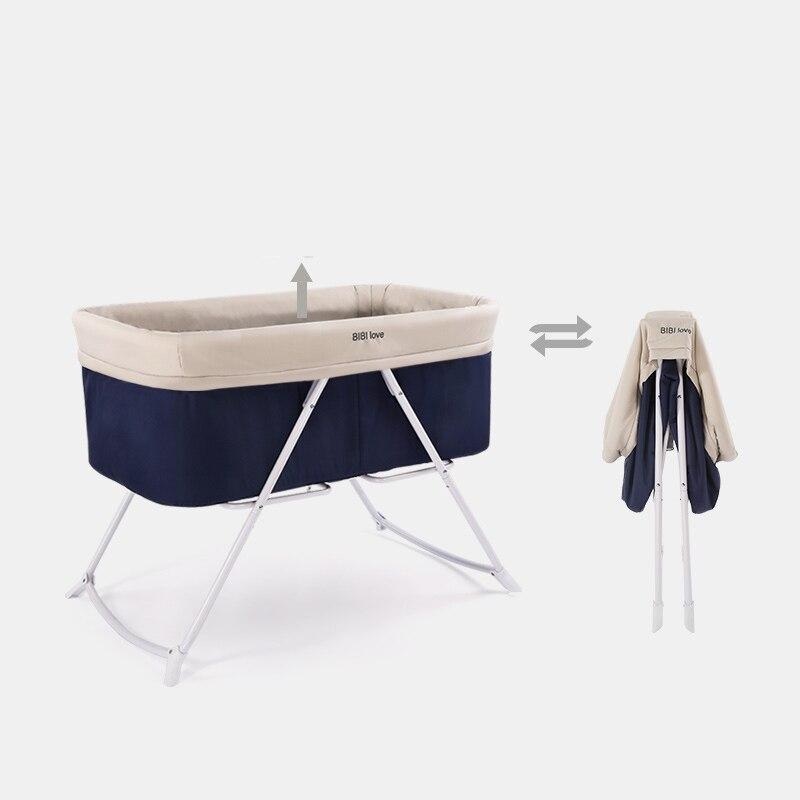 Bébé Portable berceau lit berceau pliable doux respirant bébé berceau berceau lit protecteur pour enfants voiture voyage pour enfants - 2