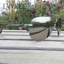 Lvvkee Brand logo top quality sunglasses  men and women Spring Hinge Polaroid Lens color aviator sunglasses green blue red pink