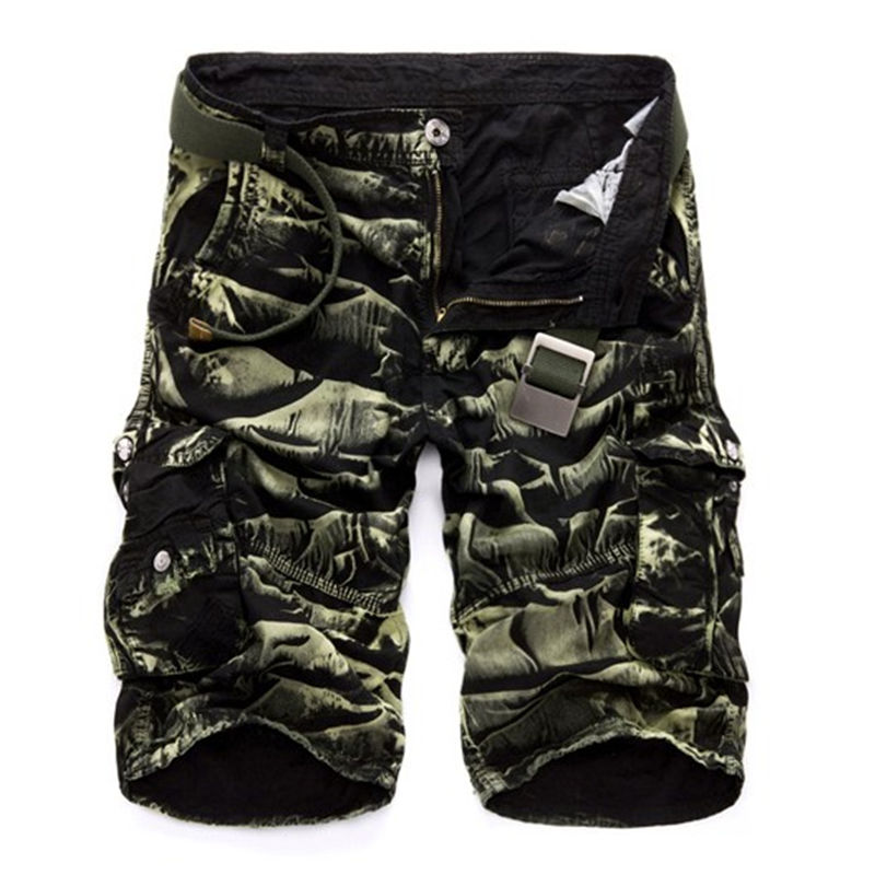 Mens Military Cargo Shorts 2019 Brand New Army Camouflage Shorts Men Cotton Loose Work Casual Short Pants No Belt