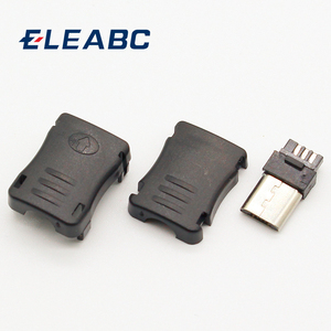 10pcs Micro USB 5 Pin T Port Male Plug Socket Connector&Plastic Cover for DIY Dropshipping Top Sale