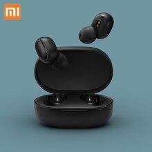 100% Оригинальные Xiao mi Red mi AirDots TWS Bluetooth наушники стерео mi AirDots Беспроводная Bluetooth 5,0 гарнитура с mi c наушники