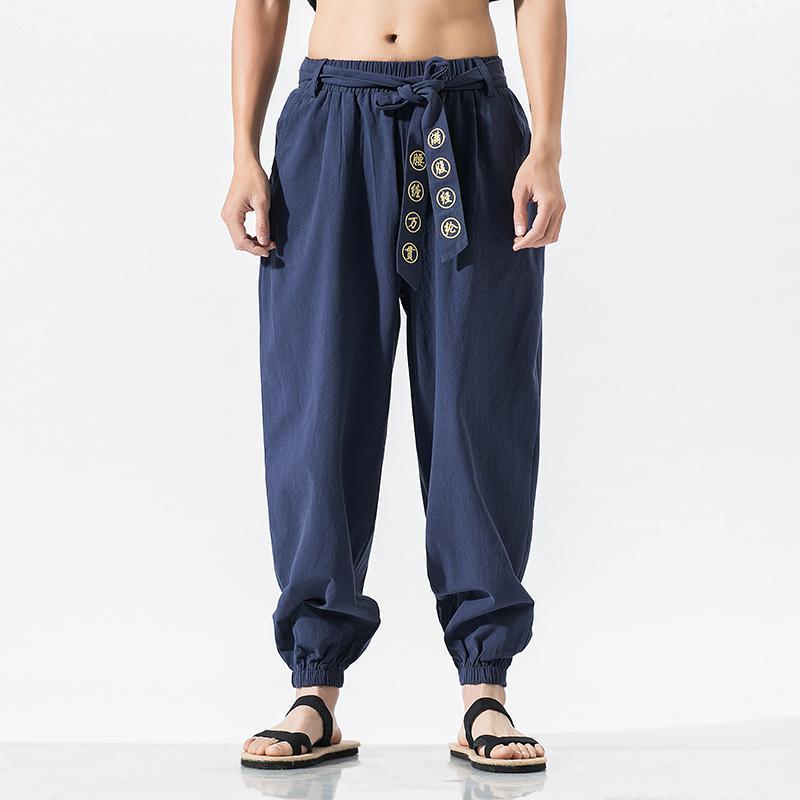 Streetwear Harem Pants Online Store Street Workout Bottom Traditional Chinese Men Clothing Kungfu Plus Size Men 5XL