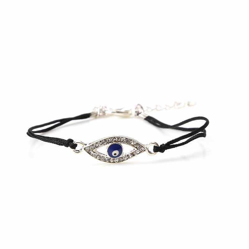 Rouge noir chaîne bleu huile goutte mauvais œil chanceux pas cher mode cadeaux bracelet pour femmes amitié bracelet