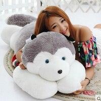 Большой плюшевый цвет полосатый свитер Сибирский хаски игрушки огромный собака кукла подарок около 170 см