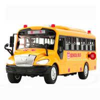 Grande taille inertiel bus scolaire jouets école voiture véhicule modèle éclairage musique voitures jouets pour enfants garçon enfants jouets cadeau