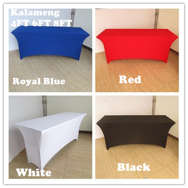 4ft 6ft 8ft Rectangular Table Cover Spandex Lycra Stretch Wedding Party Buffet Hotel Meeting
