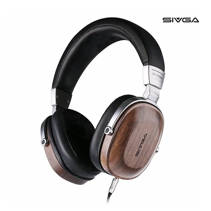 SIVGA SV006 Noyer Bois Casque Casque Wth Mic Soutien Bouton Fonctionnement Contrôle Du Volume Pour Téléphone Mobile PC MP3