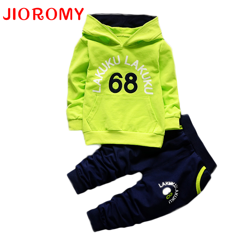 Toddler Tracksuit Autumn Baby Clothing Sets Children Boys Girls Fashion Brand Clothes Kids Hooded T-shirt And Pants 2 Pcs Suits 2018 children boys girls clothing suits autumn winter baby hooded vest t shirt pants 3pcs sets cartoon kids clothes tracksuits