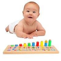 Bambino Anelli Arcobaleno Domino Per Bambini In Età Prescolare Montessori Sussidi Didattici Conteggio e Impilabile Bordo di Legno Aritmetica Matematica Giocattolo