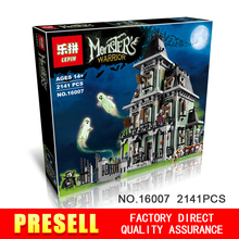 New LEPIN 16007 2141Pcs Monster fighter The haunted house Model set Building Kits Model Minifigure Toys Compatible With 10228