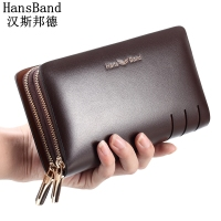 Men Wallet Genuine Leather Dull Polish Purse Fashion Casual Long Business Male Clutch Wallets Men S