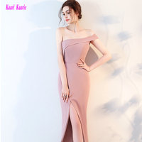 Glamorous Hot Pink Mermaid Evening Dresses Long 2017 New Sexy One Shoulder Evening Party Gowns Sleeveless