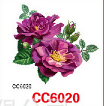 Mini Body Art Waterproof Temporary Tattoos For Women Purple Flower Design Flash Tattoo Sticker CC6020