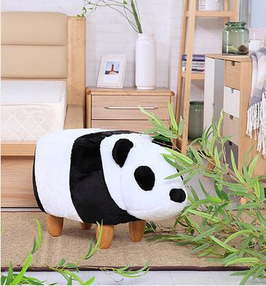 Contemporary and contracted creative panda switch shoes stool can change that