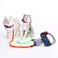Retractable Dog Double Leashes Pets Double tracti Collars Pet Lead Automatic Leash Dogs Leads Extending Puppy Walking Leash 3 M