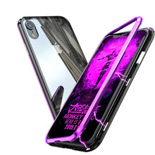New iPhonexs Mobile Shell Metal Frame Magnetic King II max Glass Case Phone Bags sale