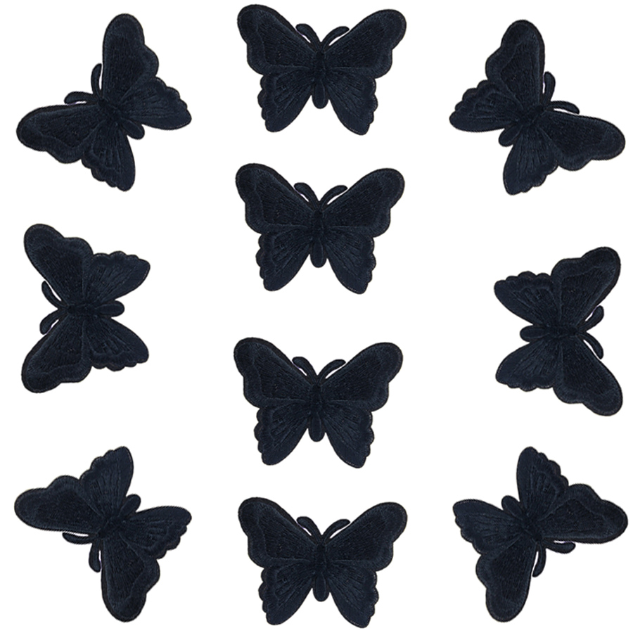 5 Butterflies Iron// Sew On Embroidered Patch Appliqués Badge
