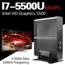 5500u fanless intel core i7 mini pc de escritorio computadora de windows 10 sistema de broadwell nuc barebone nettop htpc hd5500 gráficos wifi(China (Mainland))