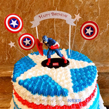 the avengers toys superhero decorations cupcake toppers baby kids birthday parties captain america cake topper