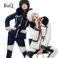 Las mujeres de invierno parka con capucha de piel de pato abajo trajes de moda y chaqueta delgada capa corta femenina super cool manteau doudoune femme