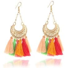 Fashion Bohemian Style Tassel Long Earrings For Women Drop Earring Fashion Jewelry For Women