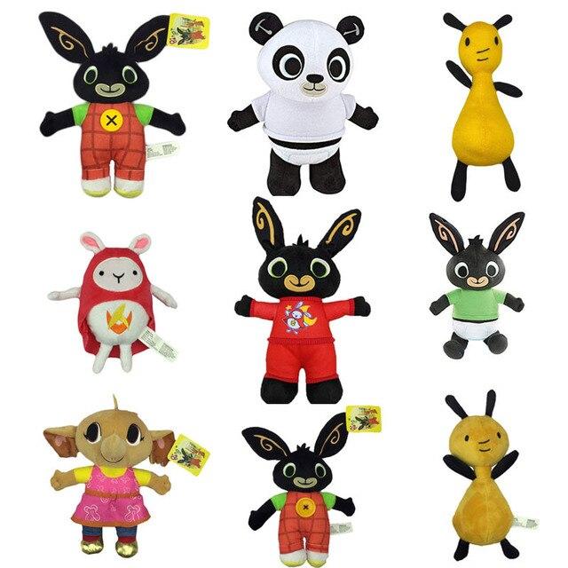 Foreset Animals Rabbit Panda Elephant Plush Toy, Bing Bunny COCO Flop Stuffed Animals Plush Toy For Kids Christmas Gift
