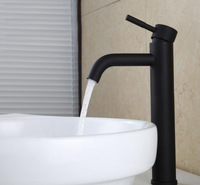 Free Shipping Black Color Basin Tap Stainless Steel Faucet Bathroom Sink Lavatory Basin Faucet Matte Black