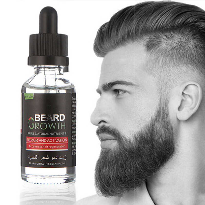 JETI Erkekler Sıvı sakal uzatma uçucu yağ Hızlı Geliştirmek Yüz Bıyık Beslenme Bıyık Sakal Onarım Büyüme Sakal Bakım