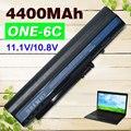 Negro 4400 mah batería para acer aspire one a110 a150 d210 d150 d250 zg5 um08a31 um08a32 um08a51 um08a52 um08a71 um08a72 um08a73