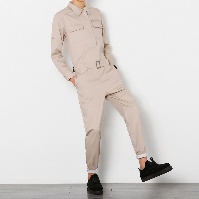 Men's Clothing Men Jumpsuit Male Long Sleeve Cargo Pant A Piece Pants Overalls Tooling Hip-hop Casual Fashion Trousers Cargo Pants