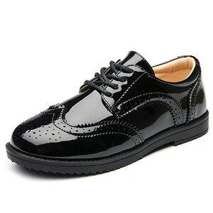 Image 3 - Мокасины детские кожаные, школьные туфли для мальчиков, обувь для выступлений, свадьбы, вечеринки, Повседневные Легкие черные, на плоской подошве, 2020