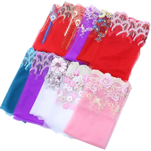 1 Meter/lot Hot Sale Polyester Blue Pink Khaki Sewing Costume Craft Flower Lace Applique Novelty Design Venice Trim 18-22cm