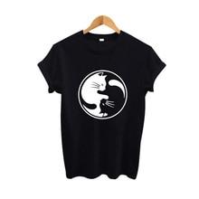 Yin Yang T-Shirt for Cat Lovers