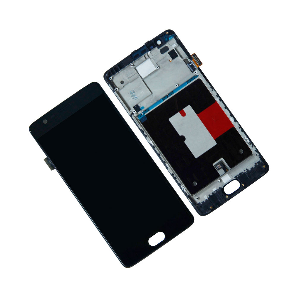 Touch Screen Digitizer LCD Display For OnePlus 3T A3010 A3000 A3003 Frame Assembly Mobile Phone lcd Panel Pepair Parts