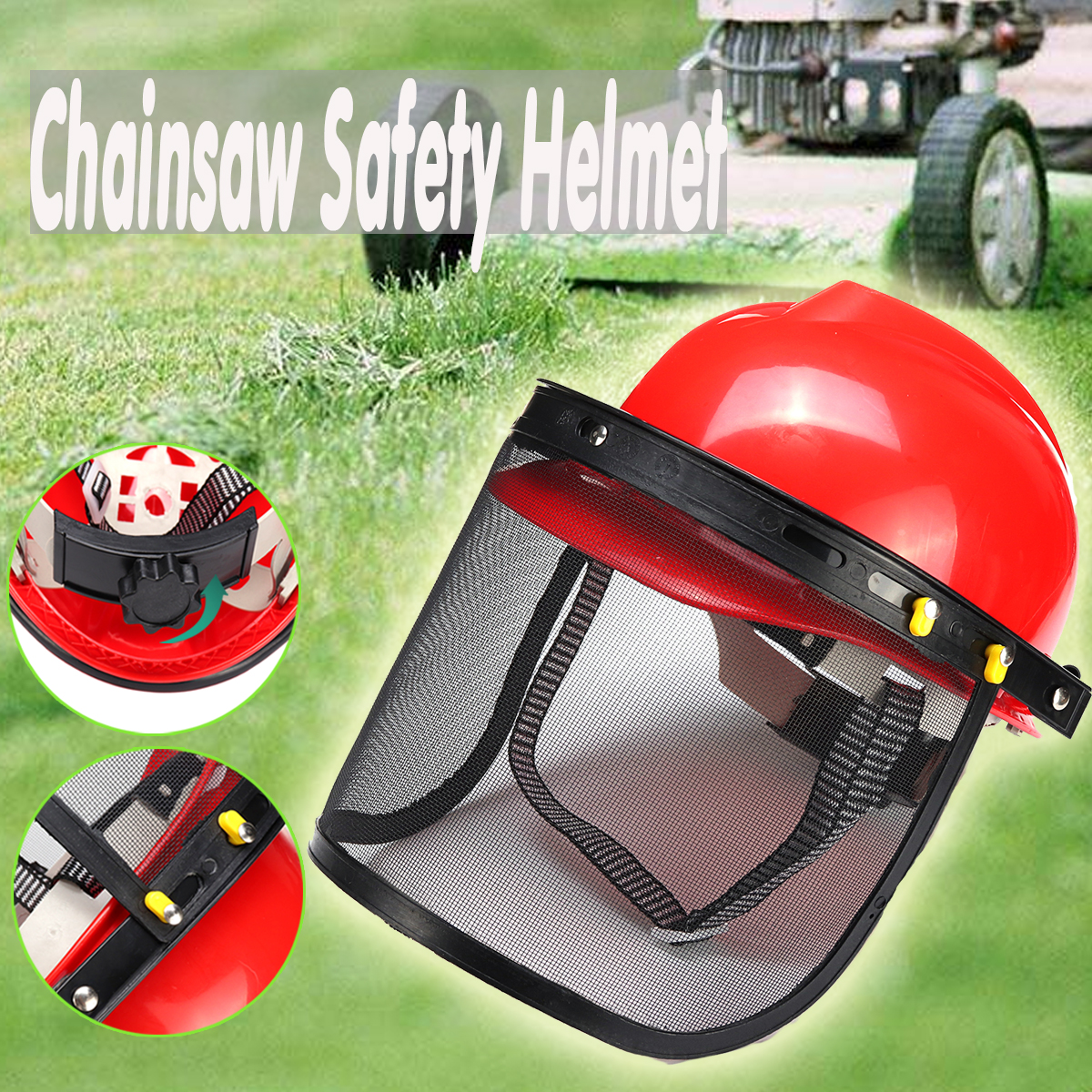 Chainsaw Safety Helmet Brushcutter Trimmer Protective Hat  Forestry Visor Protection Logging