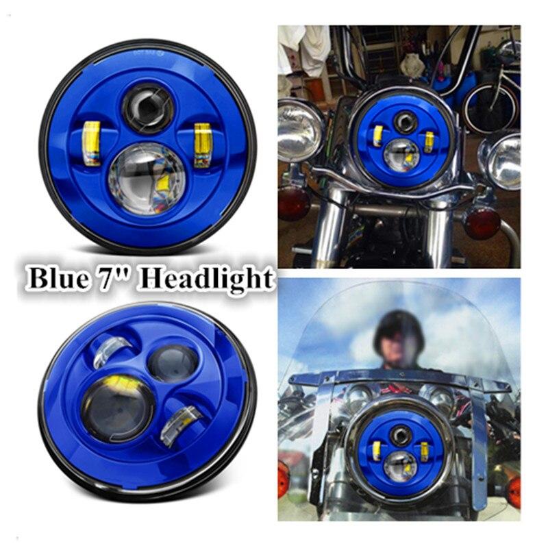 ФОТО Blue 45W 7 Inch Motorcycle 7