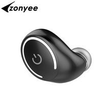Zonyee M01 Bluetooth Earphone Mini Wireless Headset Hands Free Headphone with Mic for iPhone 8 Samsung Note 7 LG HTC Laptop