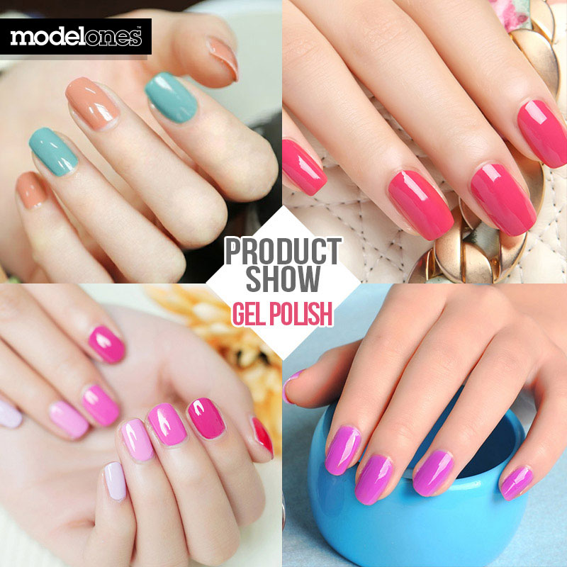 Aliexpress Modelones French Manicure Style Nail Gel Polish Clic Red Color Cure Uv L Varnish Grey From
