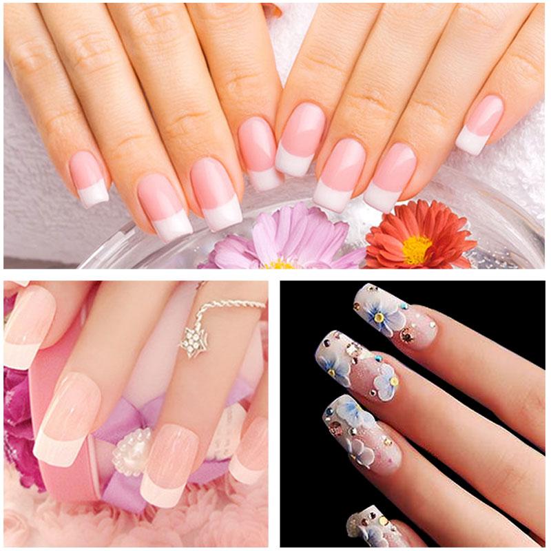 Ellwings 3 Pure Colors Long Lasting UV Nail Gel Builder Finger ...