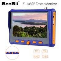 SEESII 5 HD Tester Monitor TVI CVI AHD VGA CVBS 4in1 CCTV Security Camera Analog Video PTZ RS485 Control 2MP 12V