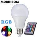 E27 RGB СВЕТОДИОДНЫЕ Лампы Лампы AC110V 220 В 3 Вт 5 Вт 10 Вт Пятно свет Затемнения Волшебный Праздник Освещения ИК-Пульт Дистанционного Управления 16 Цветов 270 степень