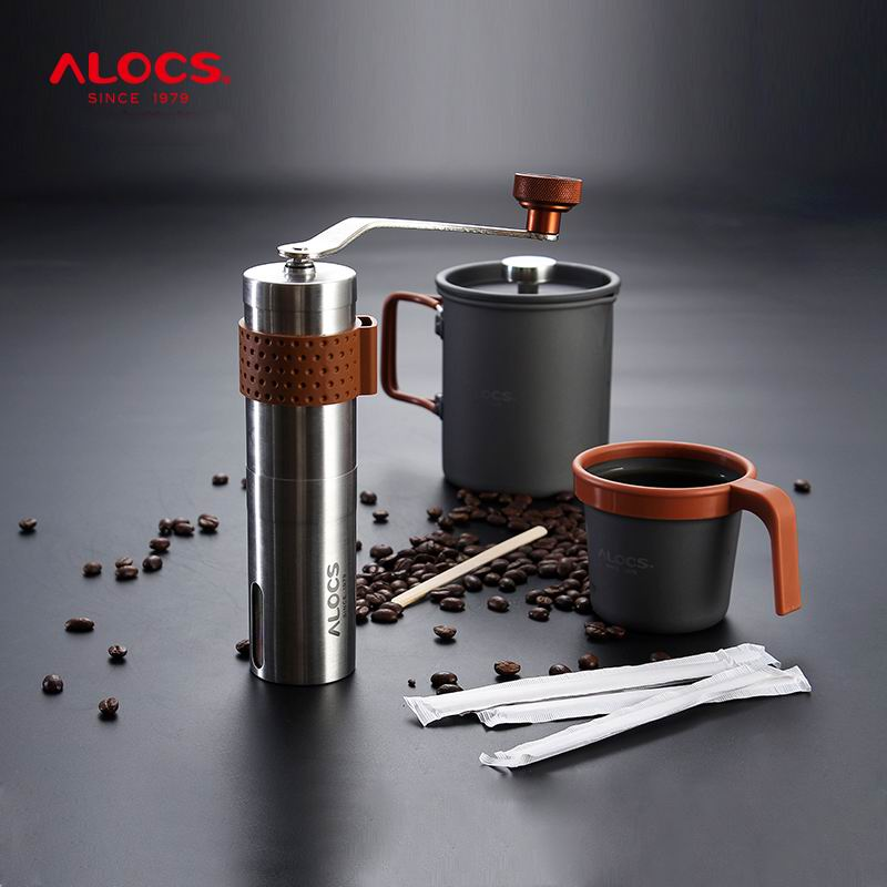 купить Alocs Ultralight Hand Coffee Are Grinding Machines Water Bottle Manually Freshly Brewed Coffee Machine French Style CW-K160 недорого