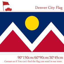 Free shipping 60*90cm 90*150cm Flag 3x5ft Denver City Flag Custom High-quality 100d Polyester Banners For Campaign Decoration цена и фото