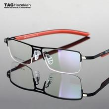 2020 תג חזקיהו משקפיים מסגרות לגברים קל משקל חצי מסגרת קוצר ראיה מסגרות ונשים Elasticized רגל מסגרת משקפי מחשב