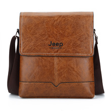 JEEP Buluo Leather Men Messenger Bags Casual Men's Shoulder Bags, Easy to Carry Daily Belongs KSL573