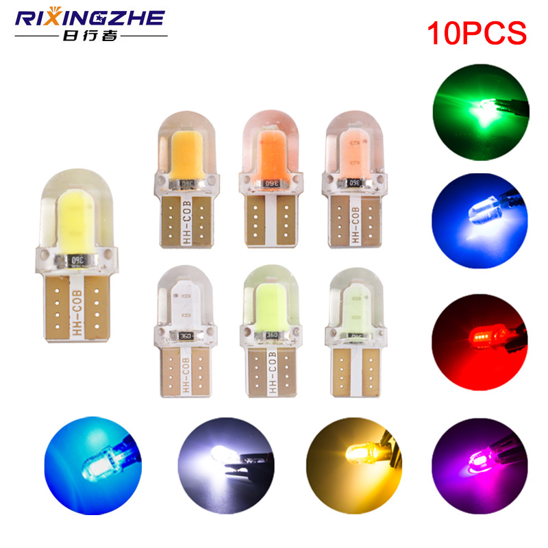 10x Lucas 12V 5W CAPLESS AMBER Side Light//Indicator Bulb