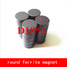 wholesale 50PCS D18*4mm permanent disc ferrite magnet round magnets work temperature -40 to +220 Celsius 50pcs bta12 800b bta12 800 to 220 12a 800v