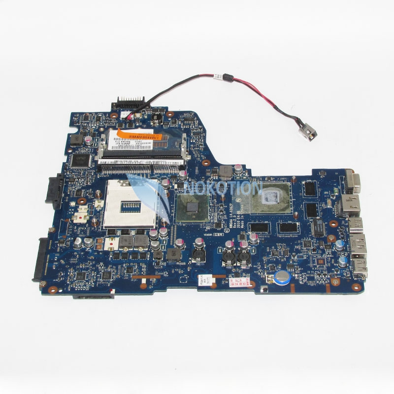 NOKOTION Main Board For Toshiba Satellite A660 A665 Laptop Motherboard NWQAA LA-6062P K000104400 HM55 DDR3 GT330M graphics card nokotion genuine h000064160 main board for toshiba satellite nb15 nb15t laptop motherboard n2810 cpu ddr3