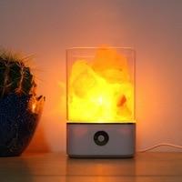 iTimo Salt Lamp Colorful Lava Light Home Air Purifier Mood Creator Natural Himalayan Warm Table Lamp USB Powered Crystal Light